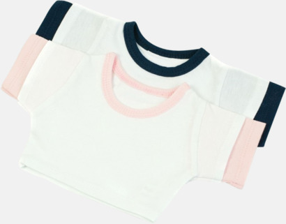 Kontrast Enfärgade t-shirts eller med färgad kant - med reklamtryck