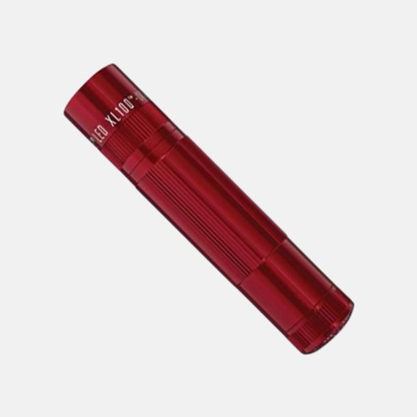 Röd Maglite XL 100 LED med gravyr