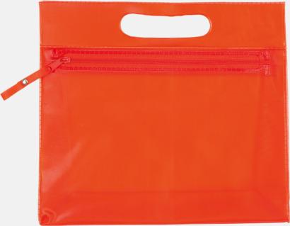 Röd Transparenta necessärer med tryck