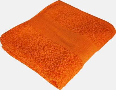 Sunny Orange Prisvärda handdukar i flera storlekar med brodyr