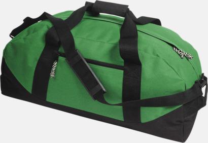 Grön / Svart Billigare sportbagar med reklamtryck