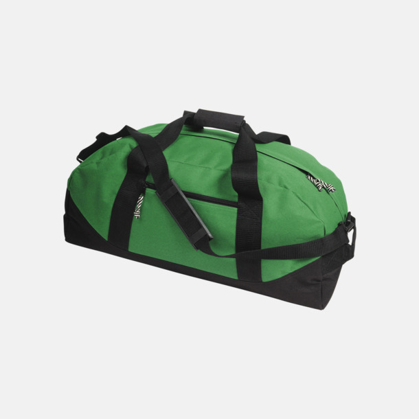 Ljusgrön/Svart Billigare sportbagar med reklamtryck