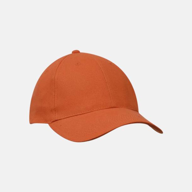 Orange klassiska basebollkepsar med reklambrodyr