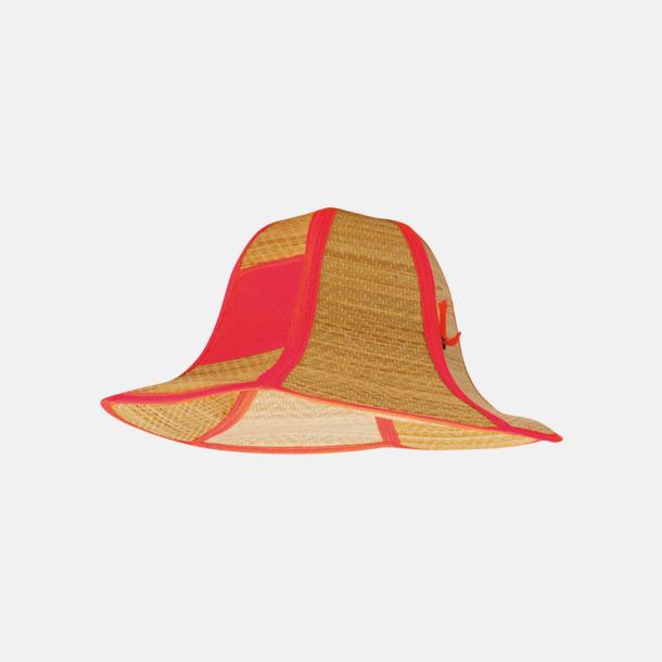 Röd Vikbara strandhattar med reklamtryck