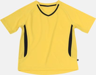 Gul / Svart Snabbtorkande funktionströjor med eget tryck eller bordyr