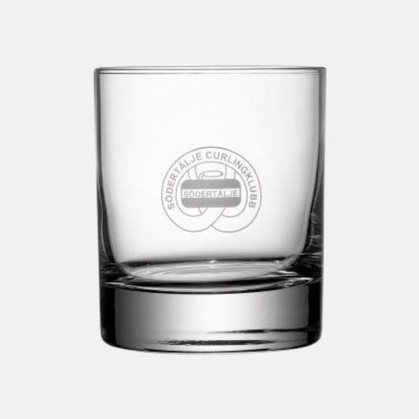 1-färgstryck Rejäla whiskyglas med reklamtryck