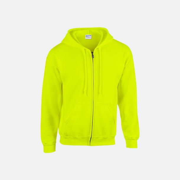 Safety Green Heavy Blend-tröja i herrmodell med reklamtryck