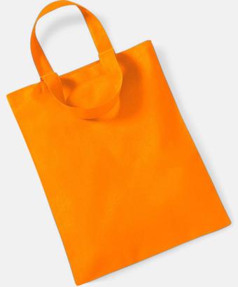 Orange Mediumstor bomullspåse med eget tryck