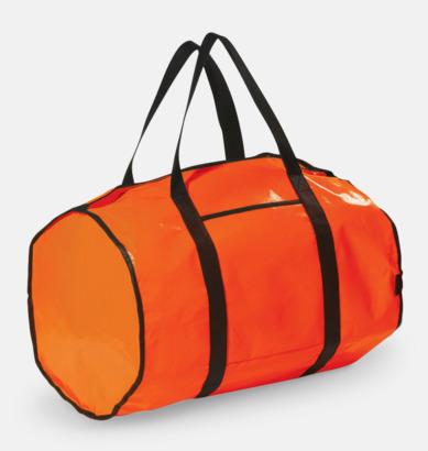 Orange Sportväskor i non-woven med reklamtryck