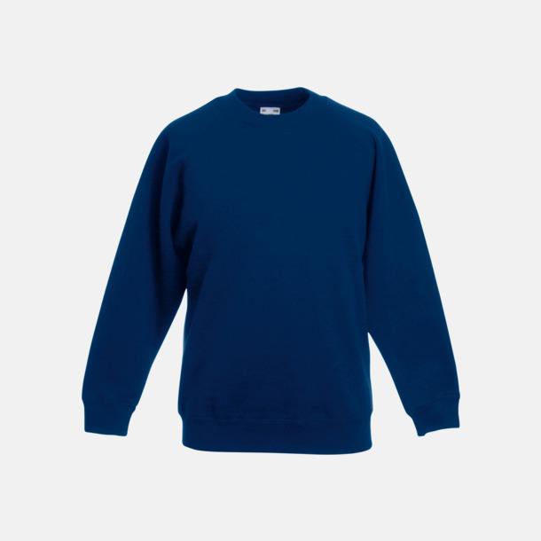 Marinblå Tjocktröjor för barn med eget tryck