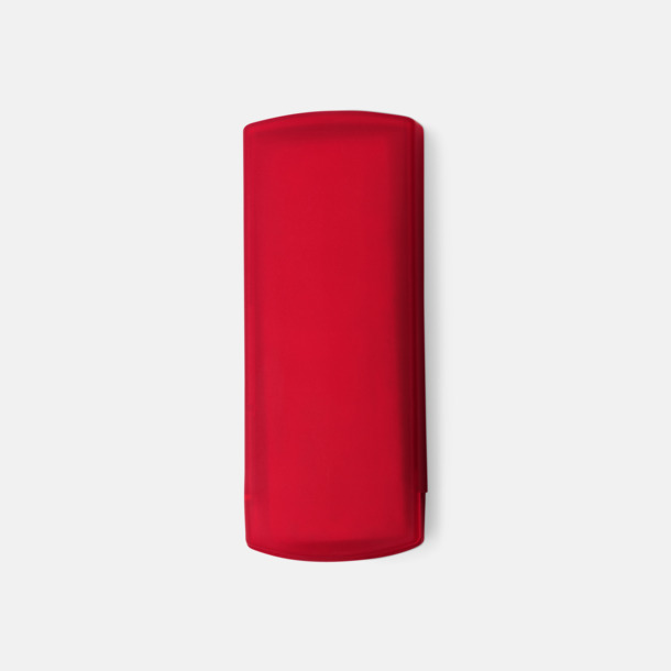 Röd Plåsterask med reklamtryck
