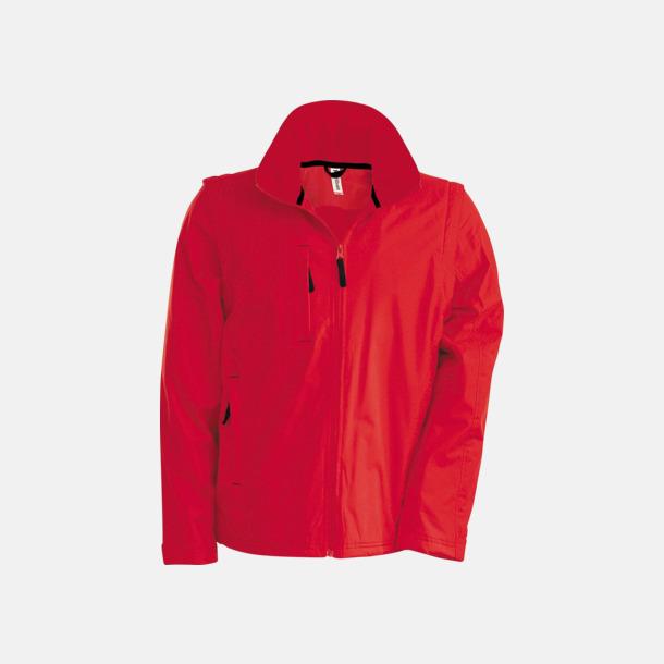 Röd/Svart Jacka med avtagbara ärmar - med reklamtryck