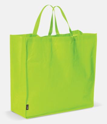 Limegrön Stor tygkasse med reklamtryck