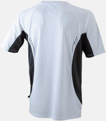 Vit/Svart/Reflex (rygg) Flerfärgade tränings t-shirts i herrmodell med reklamtryck