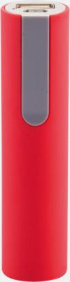 Röd/Grå Billiga nödladdare med reklamtryck