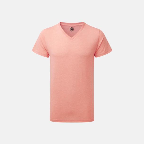 Coral Marl (v-neck herr) Färgstarka t-shirts i herr- och dammodell med reklamtryck