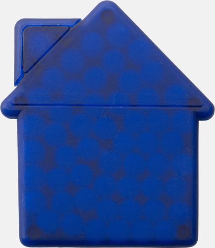 Blå (hus) Fresh cards i olika former fyllda med mintgodis - med reklamtryck