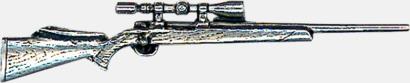 Gevär med kikarsikte Engelska, handgjorda broscher med jaktmotiv