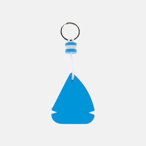 Blå / Vit Stora, flytande nyckelringar med reklamtryck