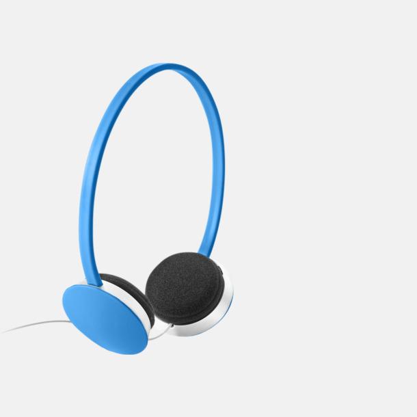 Blå On-ear hörlurar i många färger - med tryck