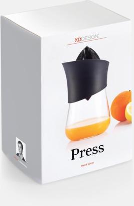 Presentförpackning Juicepress & tillbringare med reklamtryck