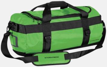 Limegrön/Svart 35 liters-väskor med reklamtryck