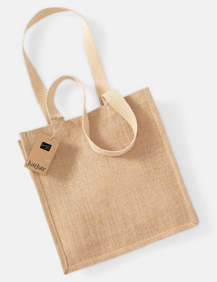 Natur Kompakt shoppingbag i jute