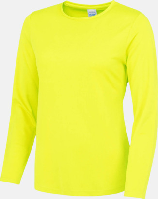 Electric Yellow (dam) Unisex tränings t-shirts med långa ärmar - med reklamtryck