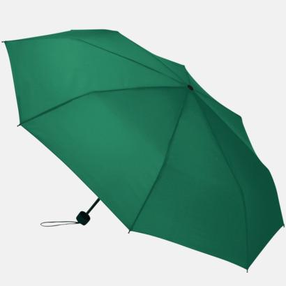 Grön Kompakta paraplyer med eget tryck