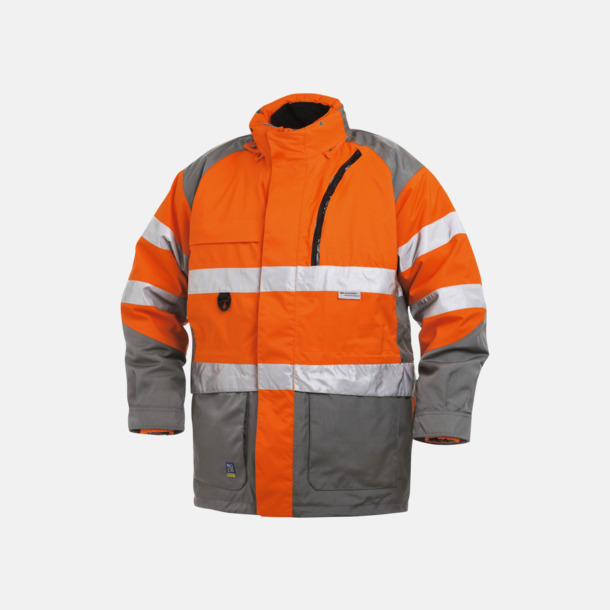 Orange Herrarbetsjacka Parkas Klass 3