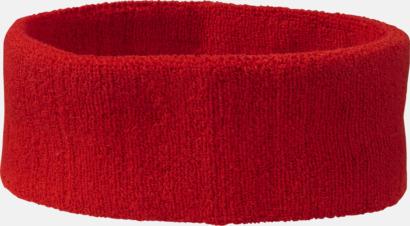 Röd Klassiskt svettband med brodyr