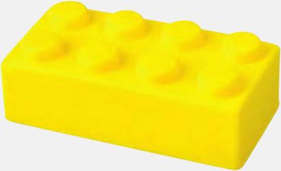 Gul Blockformade stressbollar med reklamtryck