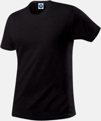 Svart Herr t-shirts i ekologisk bomull