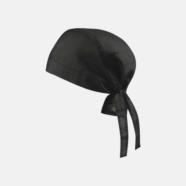 Svart (hatt) Bandanas i två varianter med reklambrodyr