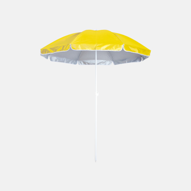 Gul Parasoller för stranden med reklamtryck