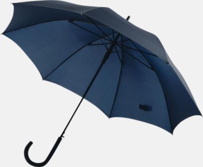 Marinblå Stormsäkra, automatiska paraplyer med tryck