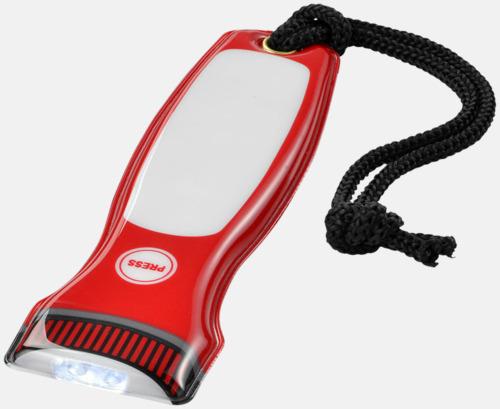 Röd Magnetiska ficklampor med reklamtryck