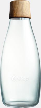 Träkork i valnöt (se tillval) Retap Flaska 50 cl med reklamtryck