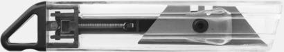 Svart Prisvärda brytbladskniv med reklamtryck