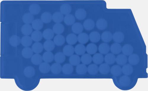 Blå (lasbil) Fresh cards i olika former fyllda med mintgodis - med reklamtryck