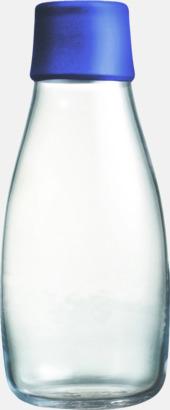 Mörkblå Mindre vattenflaskor av glas med reklamtryck