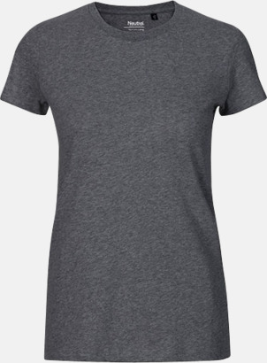 Dark Heather (dam) Fitted t-shirts i ekologisk fairtrade-bomull med tryck
