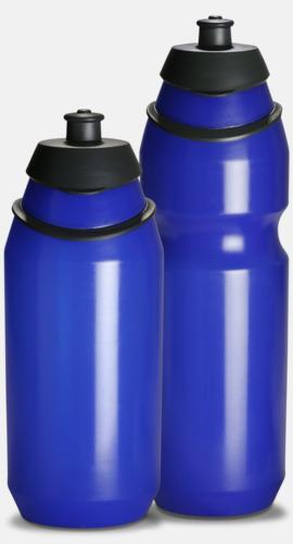 Transparent Blue Vattenflaska med eget tryck