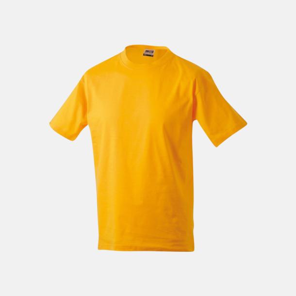 Gold Yellow Barn t-shirtar av kvalitetsbomull med eget tryck