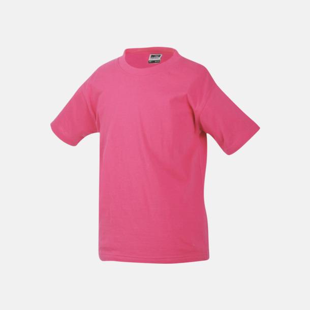 Rosa Barn t-shirtar av kvalitetsbomull med eget tryck