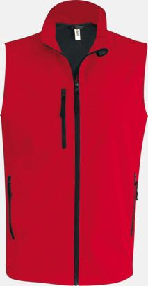 Röd (herr) Softshell Bodywarmers i herr- & dammodell med reklamtryck