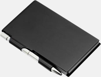 Svart Notisblock med penna
