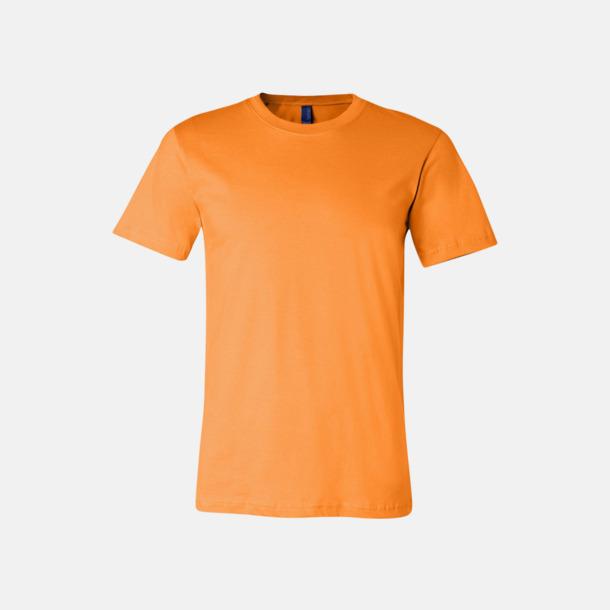 Orange T-shirts för herr och dam - med reklamtryck