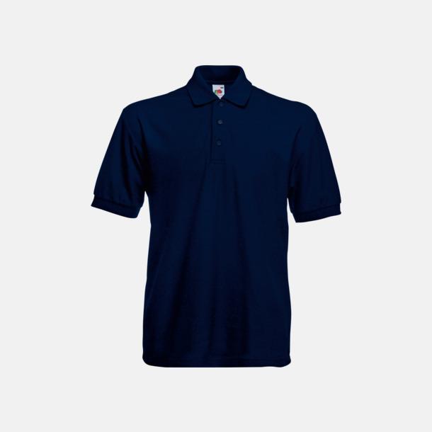 Deep Navy Pikétröjor med tryck eller brodyr