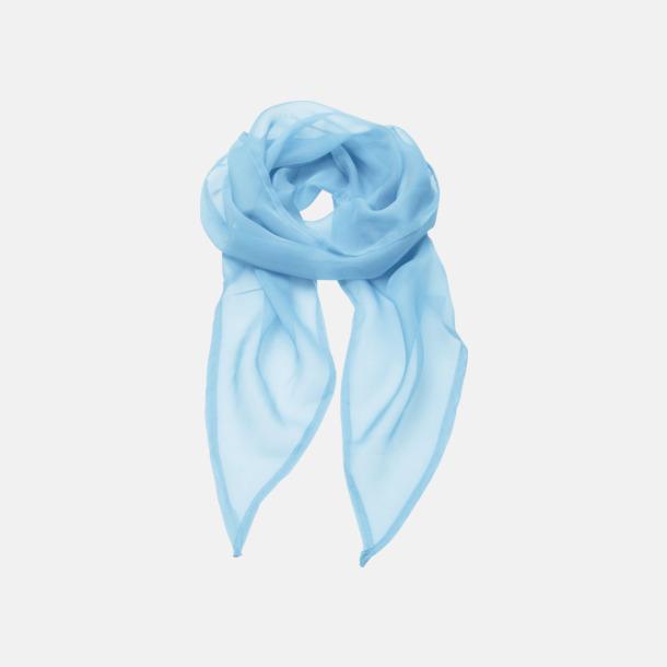 Ljusblå Tunna accessoarscarfs i många färger